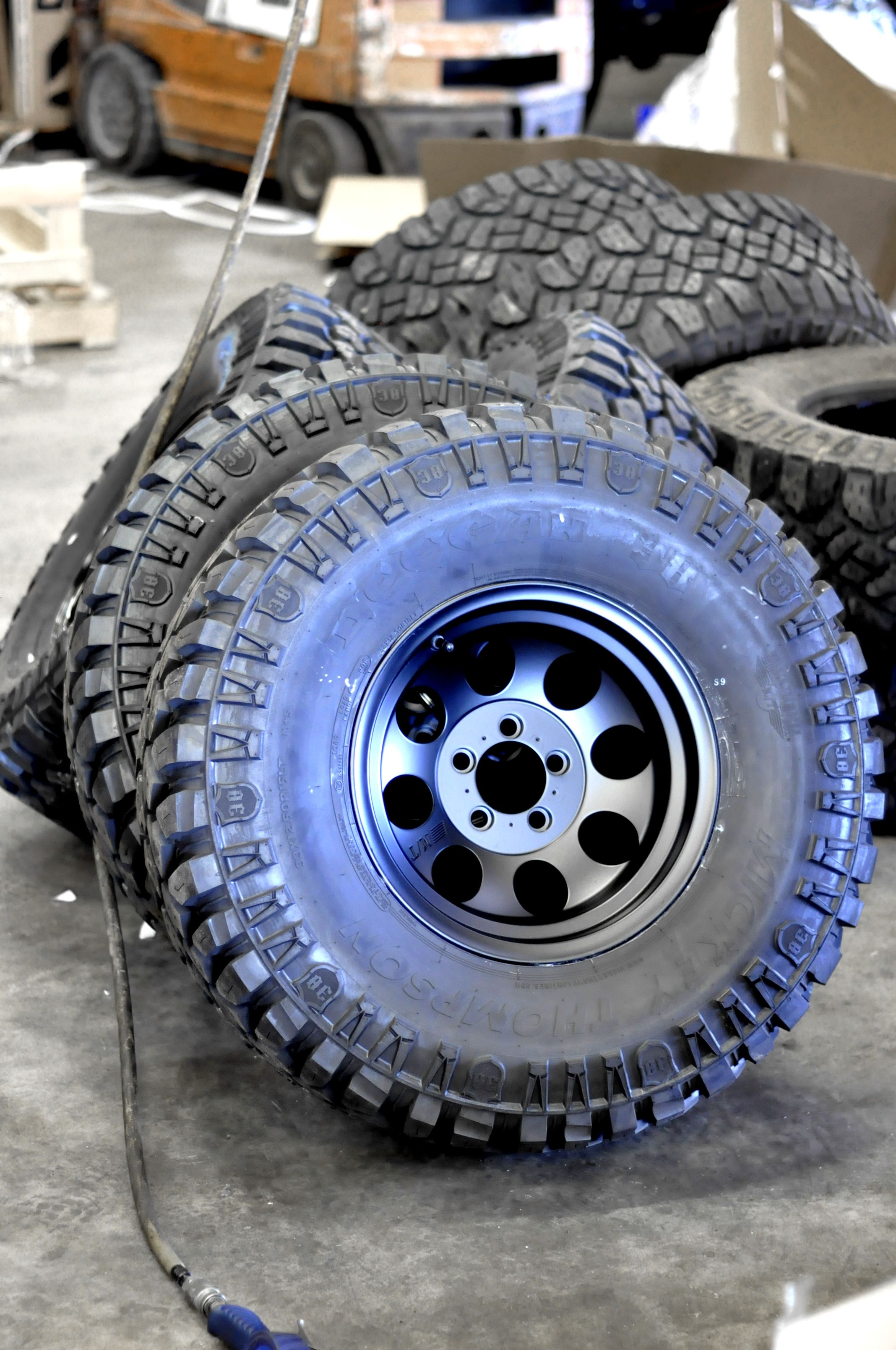33x12 50R15 Mickey Thompson tire and wheel bo at Axleboy f Road