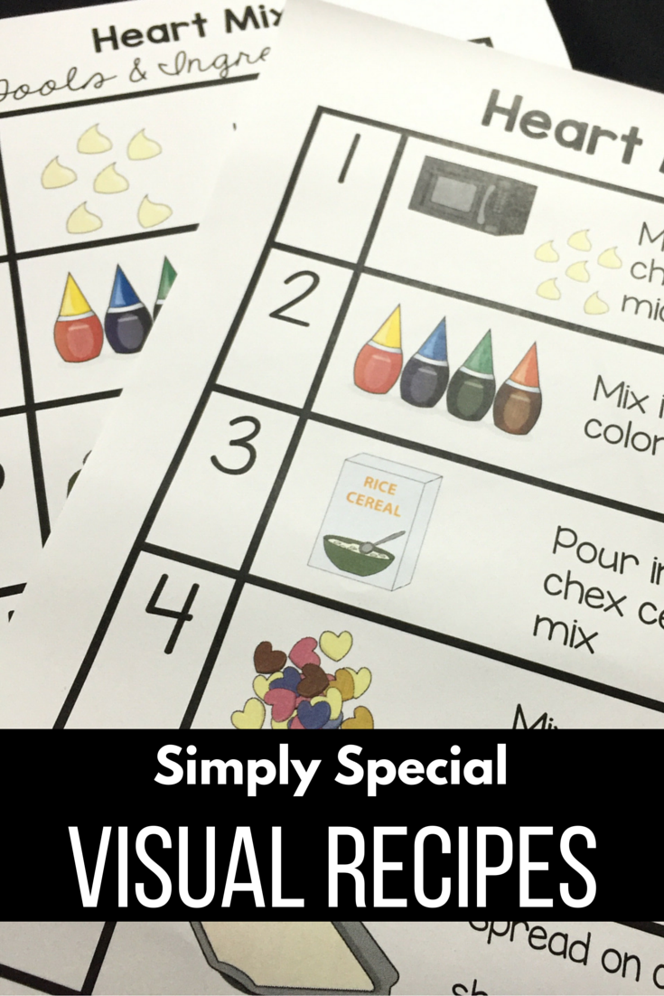 visual recipes for kids easy to follow along repinned by sos visual recipes for the autism life skills cooking class do you teach