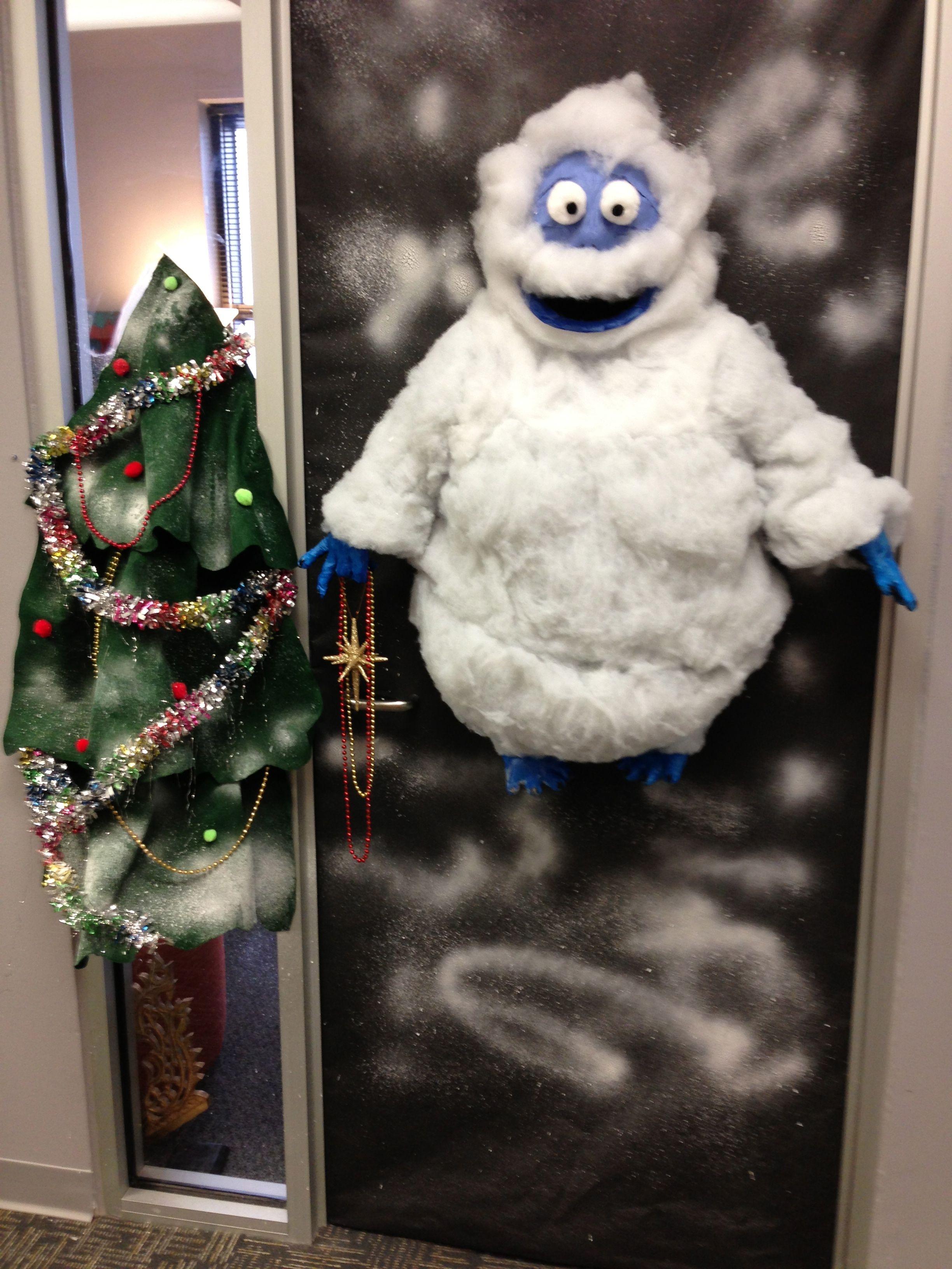 2012 Lec Door Decorating Contest Bumble The A Bonnie Able Snowman Door Decorating Contest Christmas Door Decorating Contest Holiday Crafts Decorations