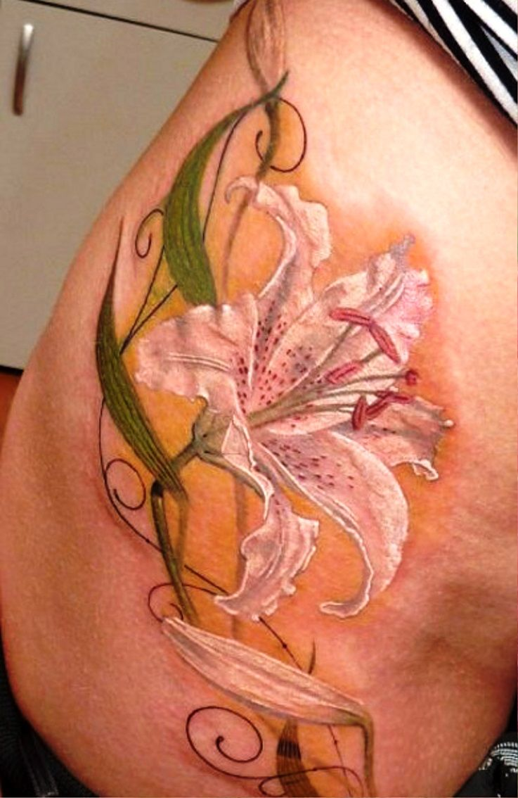 Lily Flower Tattoos On Wrist: White Lily Tattoo Designs …