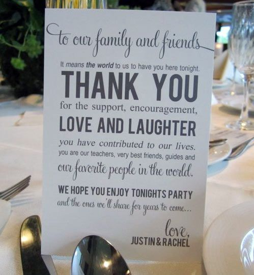 Thank You Sign For Your Wedding Guests