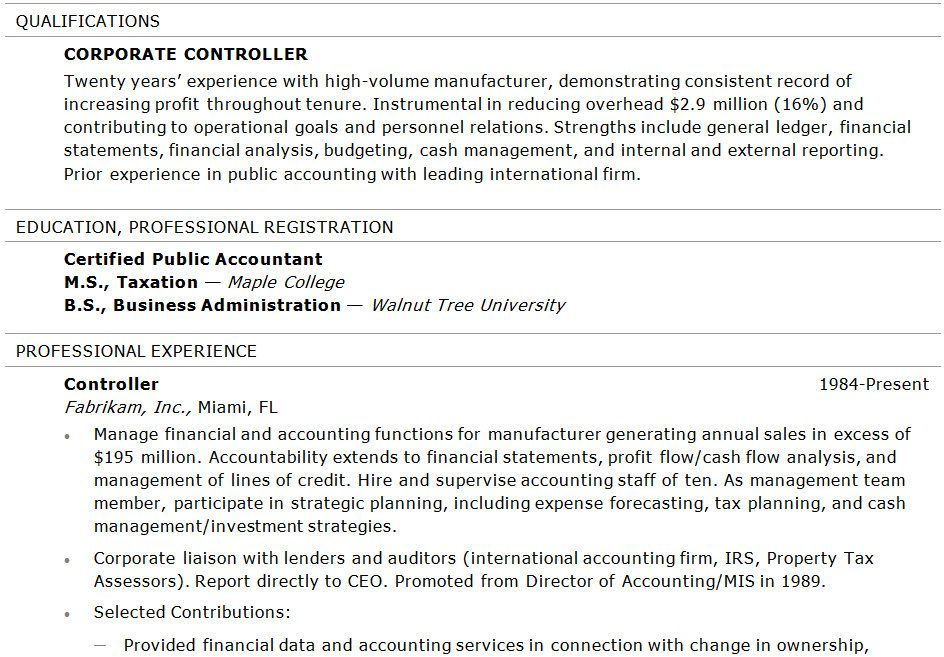 Assistant Controller Resume Examples -   wwwresumecareerinfo