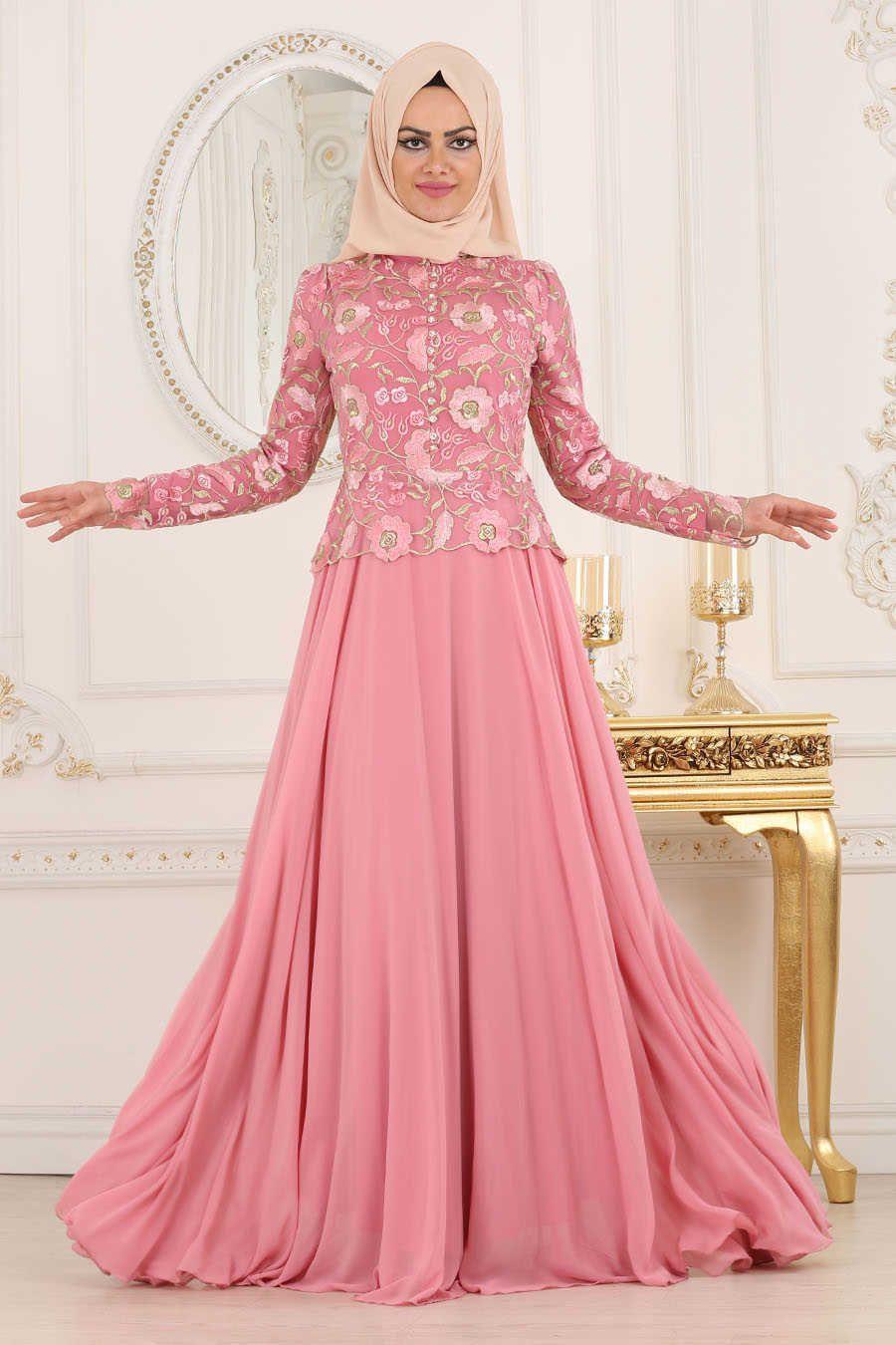 Neva style pink hijab evening dress p evening dress