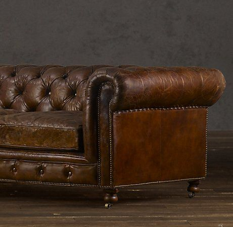 Kensington Leather Sofa Bostonian Finished Bat
