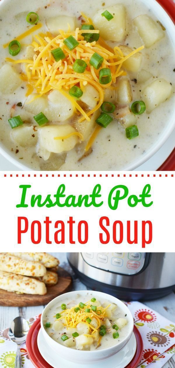 Instant Pot Potato Soup #potatosoup