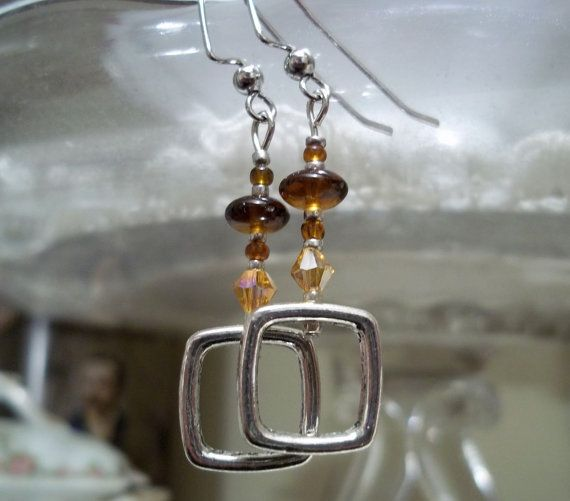 Hip to Be Square Earrings by PerPiece on Etsy, $7.00