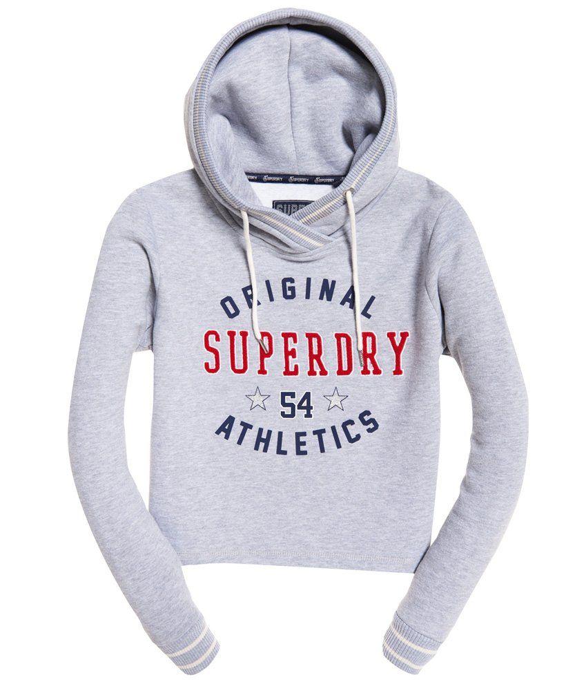 Superdry Verkurztes Playoff Hoodie Damen Hoodies Kapuzenpullover Damen Mode