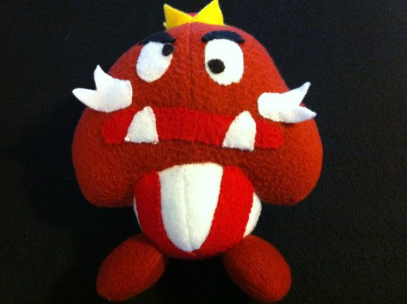 87f8defea61 King Goomba Plush by PlayerOneStart on Etsy