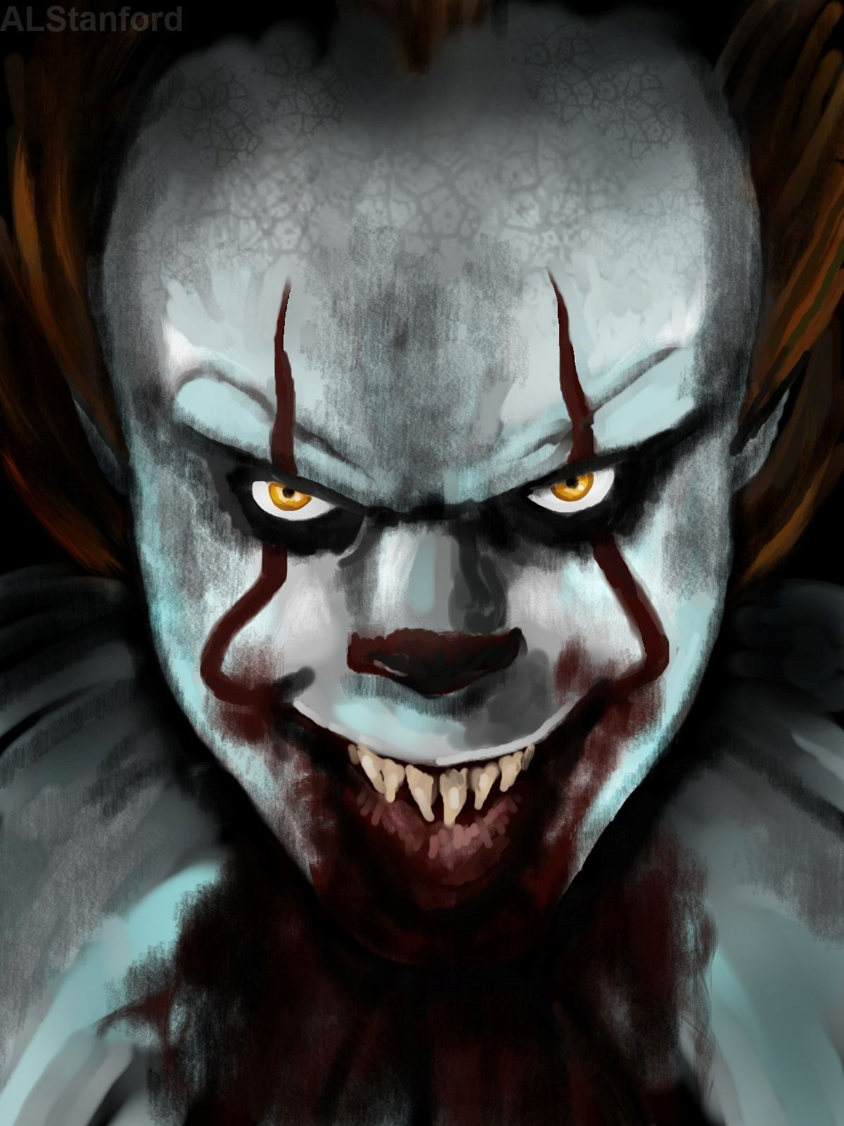 You 39 ll float too pennywise the dancing clown it movie - Scary yellow eyes ...