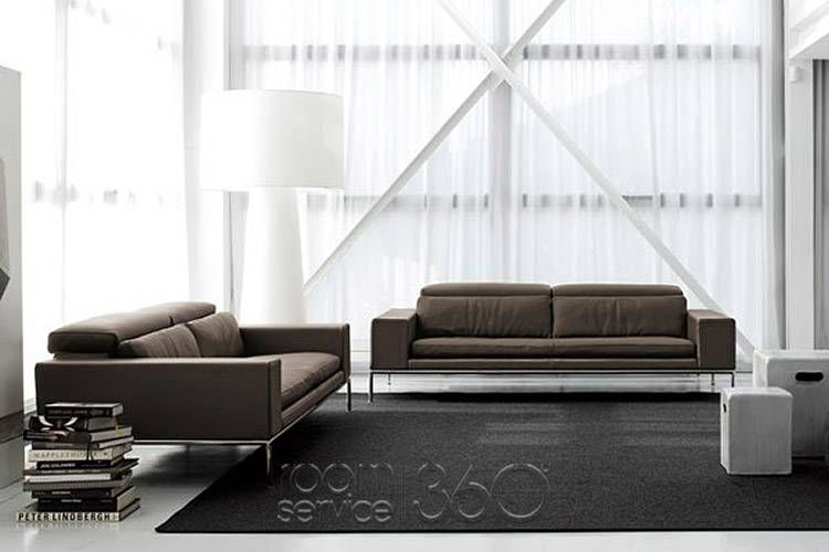 Magritte Modern Leather Sofa By Contempo   Designer Italian Sofa