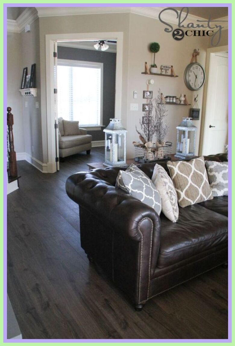 86 Reference Of Grey Living Room Brown Leather Sofa In