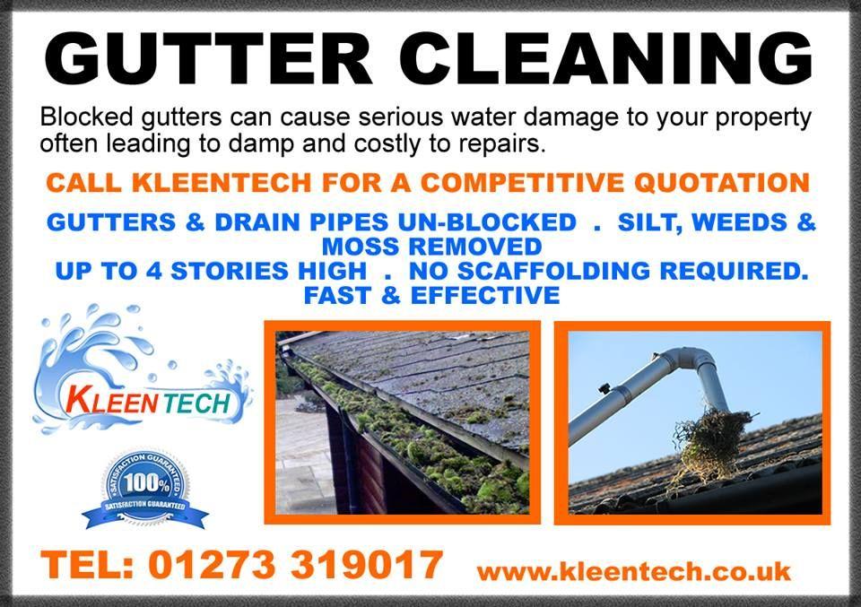 Gutter Cleaning In Brighton Www Kleentech Co Uk Cleaning Gutters Gutter Brighton
