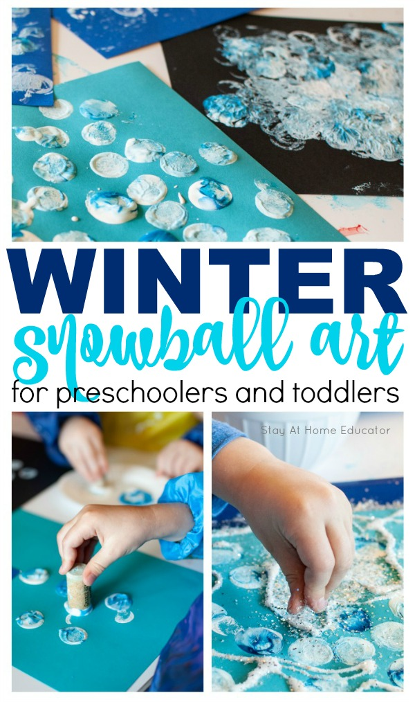 Photo of Fine Motor Winter Process Art for Preschoolers – Stay At Home Educator