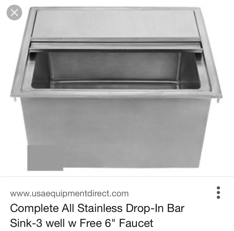 Built In Ice Well Cooler Pool House Outdoor Kitchen Ice Bins Stainless Commercial Kitchen Equipment