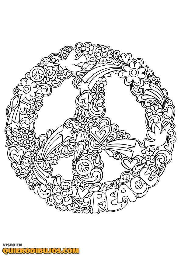 Símbolo de la paz | mandalas | Pinterest | Tegninger, Malebøger y ...
