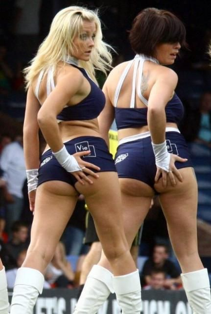 Touching phrase Cheerleaders touching their asses