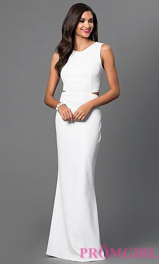 Open Back Off White Floor Length Dress At Promgirl Bms Leavers