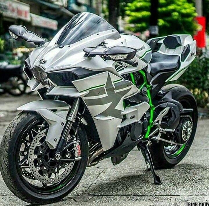 Kawasaki H2 White Ghost Kawasaki Bikes Motorcycle Motorcycle Bike
