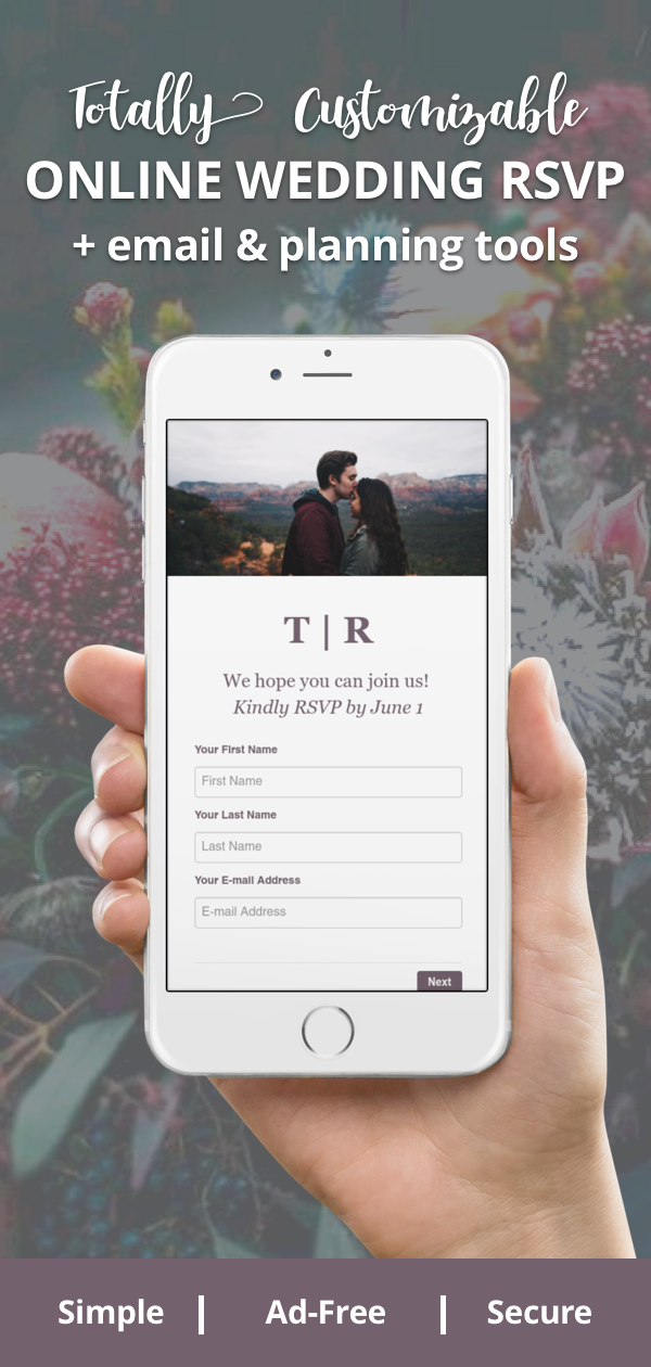 Free Online RSVPs Made for Weddings Online wedding rsvp