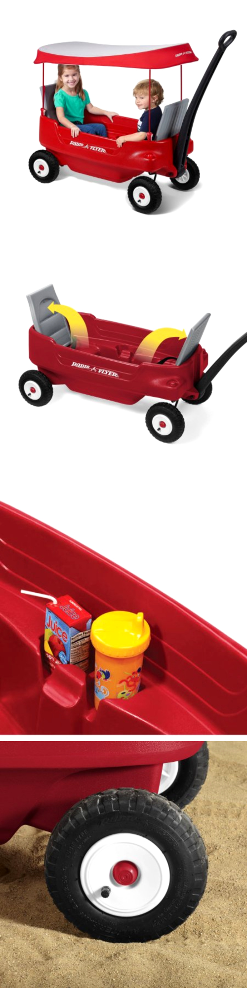 1970-Now 11746 Radio Flyer Deluxe All-Terrain Pathfinder Wagon With Canopy -  sc 1 st  Pinterest & 1970-Now 11746: Radio Flyer Deluxe All-Terrain Pathfinder Wagon ...