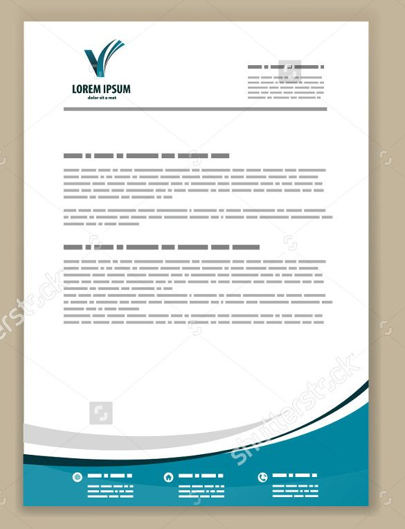 psd letterhead template free format download formal business - corporate letterhead