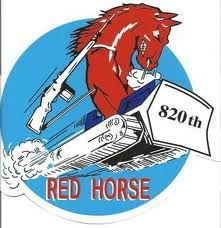 Has The Privledge Of Serving In The 820th Red Horse Squadron From 86 To 90 One Of The Best Times Of My Life Military Patch Horses Usaf
