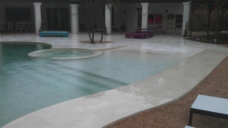 Microcemento piscina jardin azotea pool landscaping - Microcemento para piscinas ...