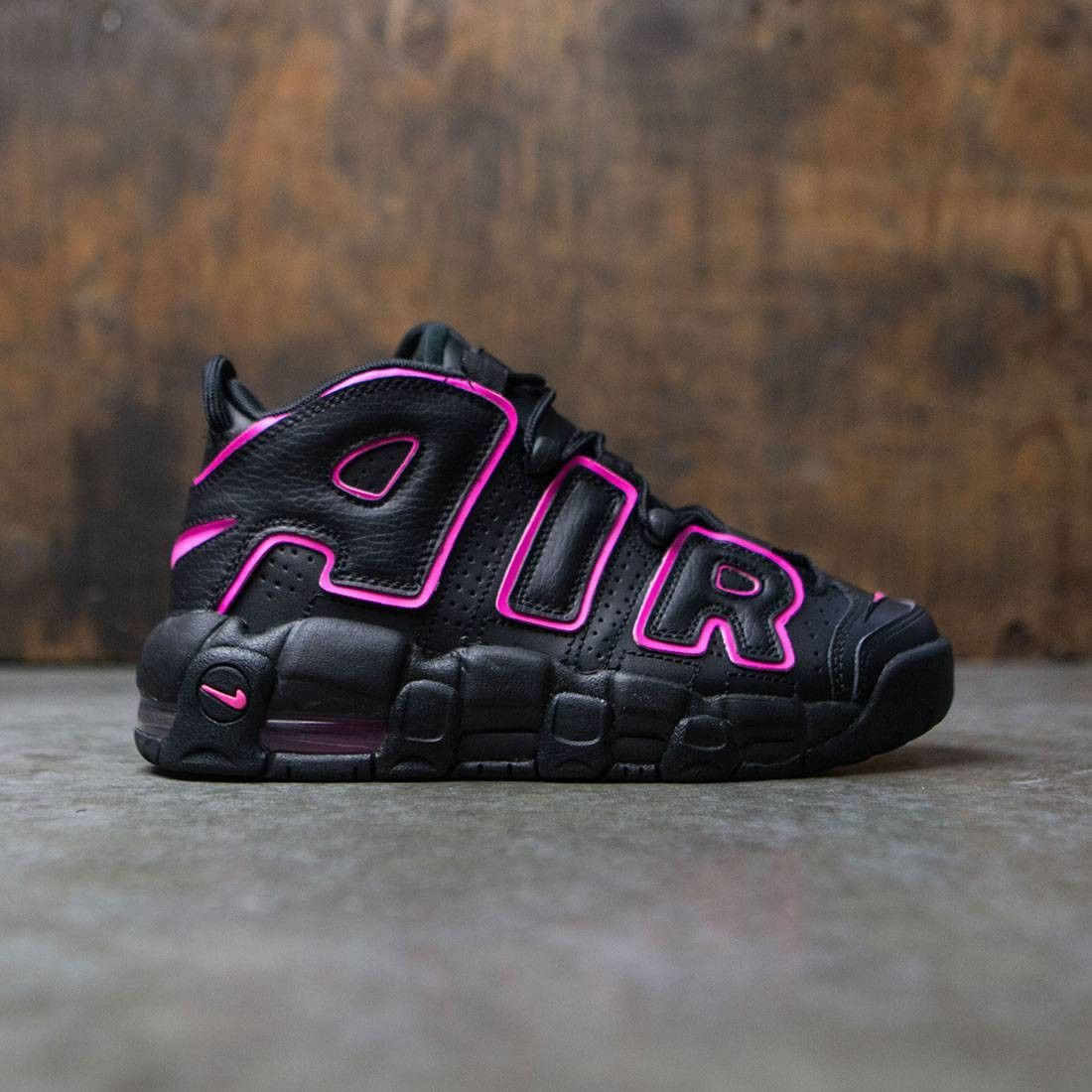 vocal Espectador hoja  Nike Big Kids Nike Air More Uptempo (Gs) (black / pink blast) | Nike air  uptempo, Cute shoes boots, Pink and black nikes