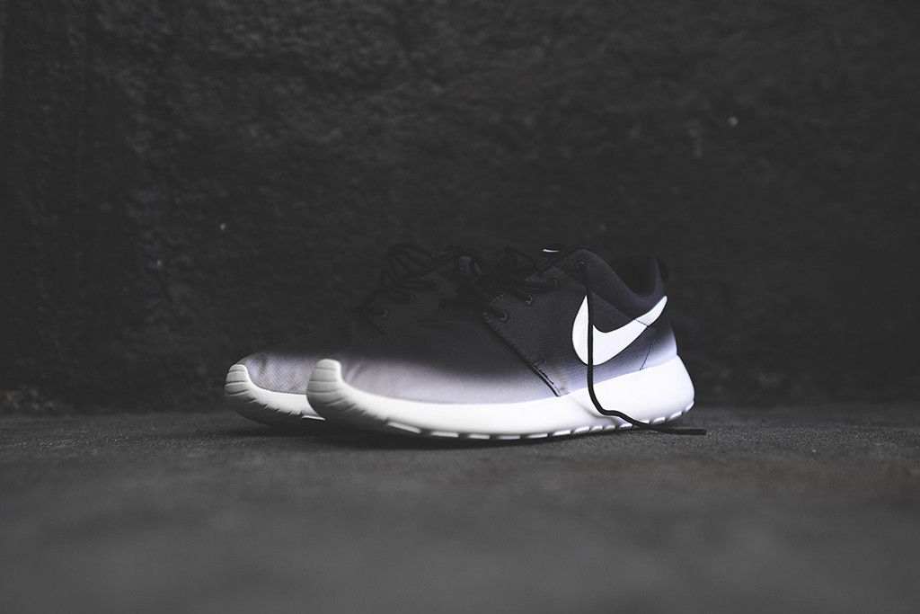 new york 63a6d d7a5e Nike WMNS Roshe Run Print - BlackWhite  Sole Collector. Next up, matching  ombre hair colors.