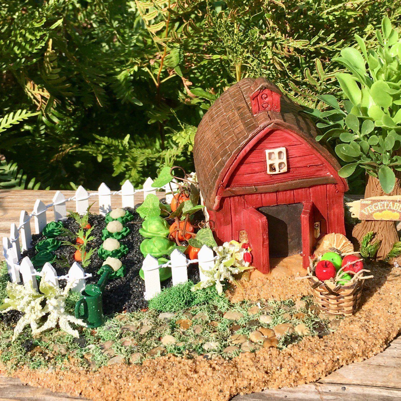 Miniature Vegetable Farm Miniature Farm Indoor Outdoor Miniature Garden Fairy Garden Accessory Diorama Accessory Gnome Garden Accessory Fairy Garden Diy Farm Decor Miniature Pigs
