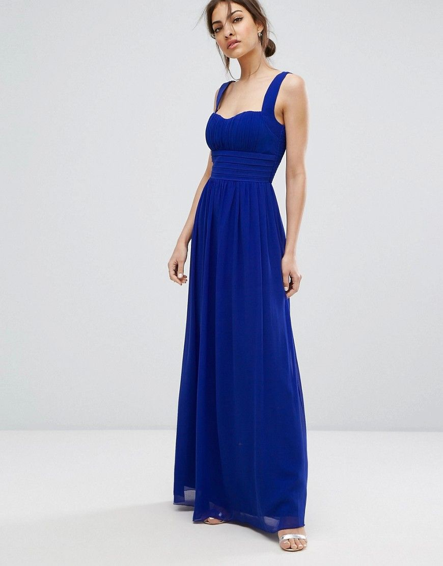 Little mistress chiffon maxi dress blue dlancy pinterest