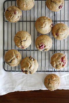Vegan Cherry-Cranberry Granola Muffins   Girl Versus Dough