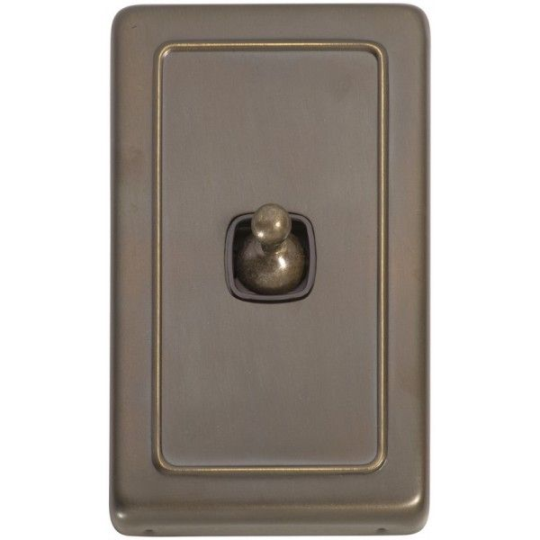 Brown Light Switches: 1 Gang Toggle Light Switch - Brown Switch,Lighting