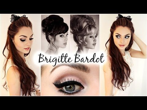 Brigitte Bardot Big Hair & Makeup Feat. Garnier Full & Plush Products! - Jackie Wyers - YouTube