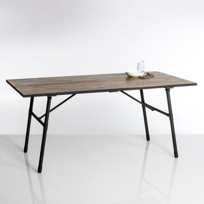 Table de jardin pliante bois et métal Sohan   { PE • 0414 }   Pinterest
