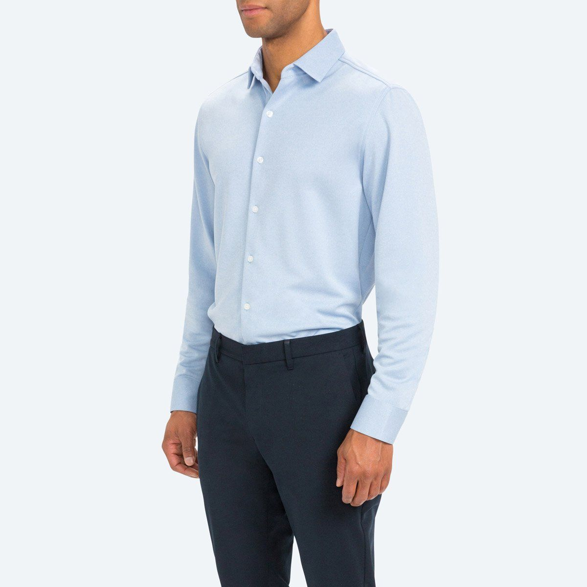 03ca3bc69e Men's Performance Professional Dress Shirt | Blue Heather | Ministry of  Supply