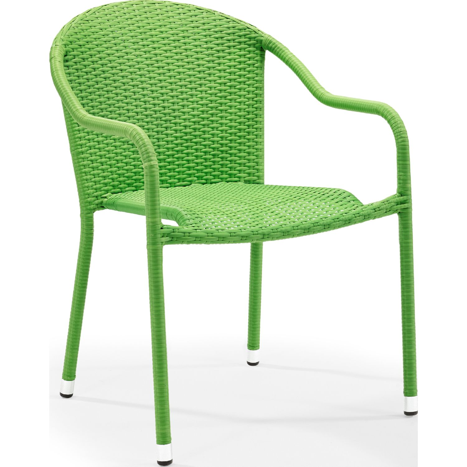 Palm Harbor Outdoor Wicker Stackable Dining Arm Chairs In