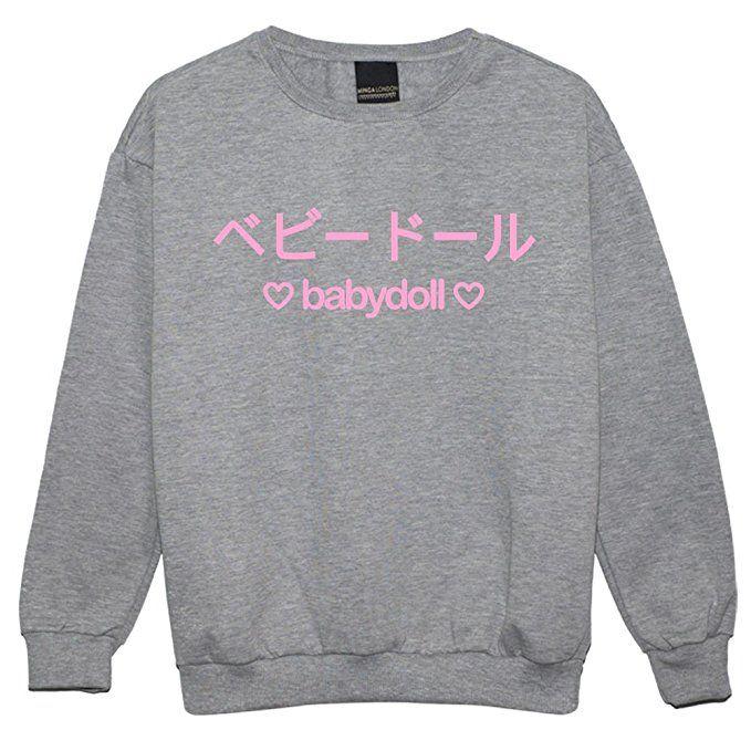a7b3e830a Baby doll Sweater Top Sweatshirt Women s Tumblr Kawaii