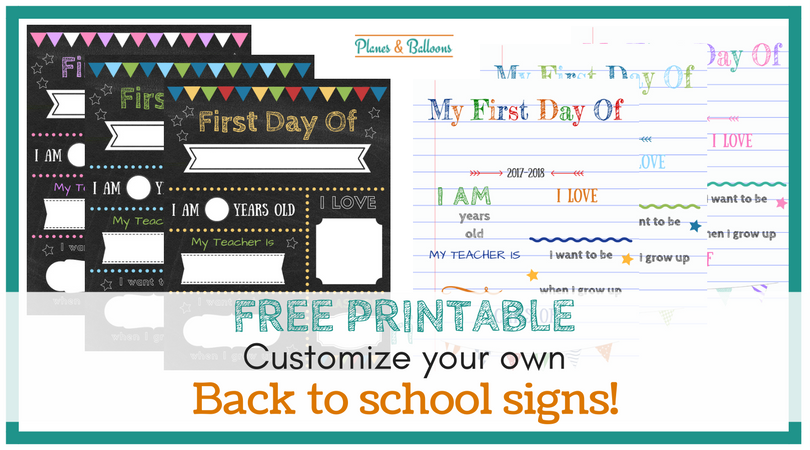 Editable First Day Of School Signs To Edit And Download For Free