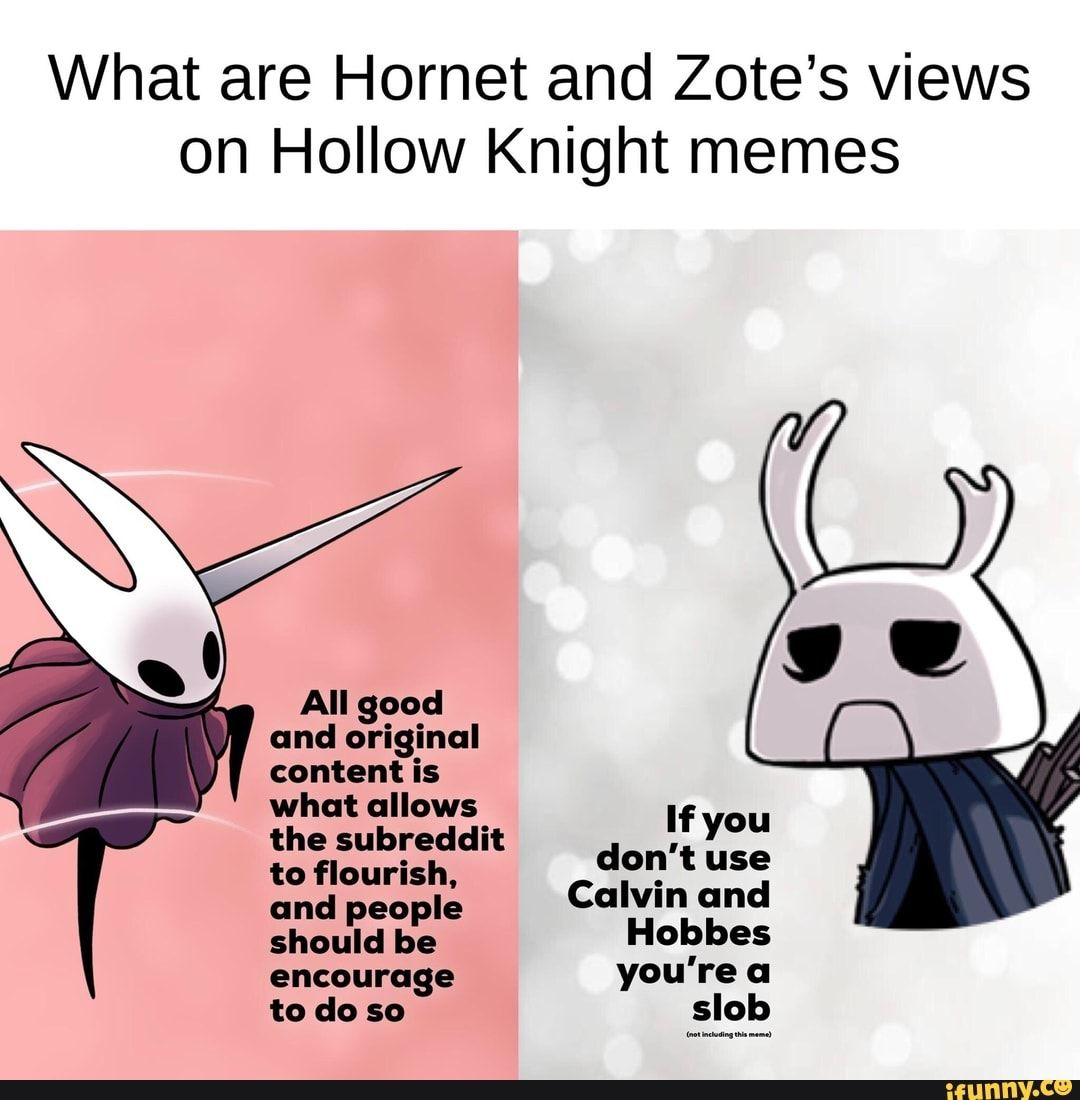 What are Hornet and Zote's views on Hollow Knight memes ...