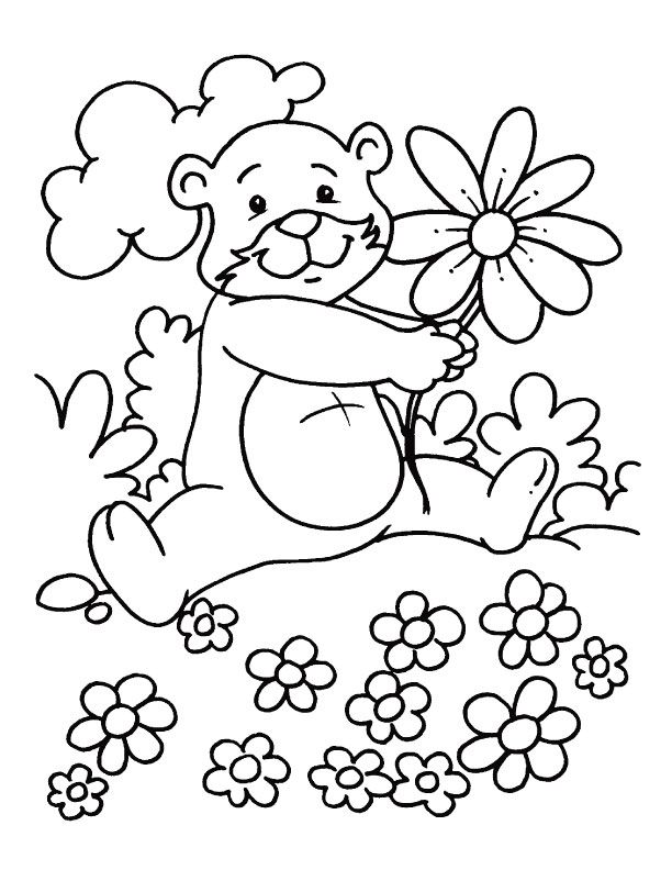 Lovely Spring Season Coloring Pages