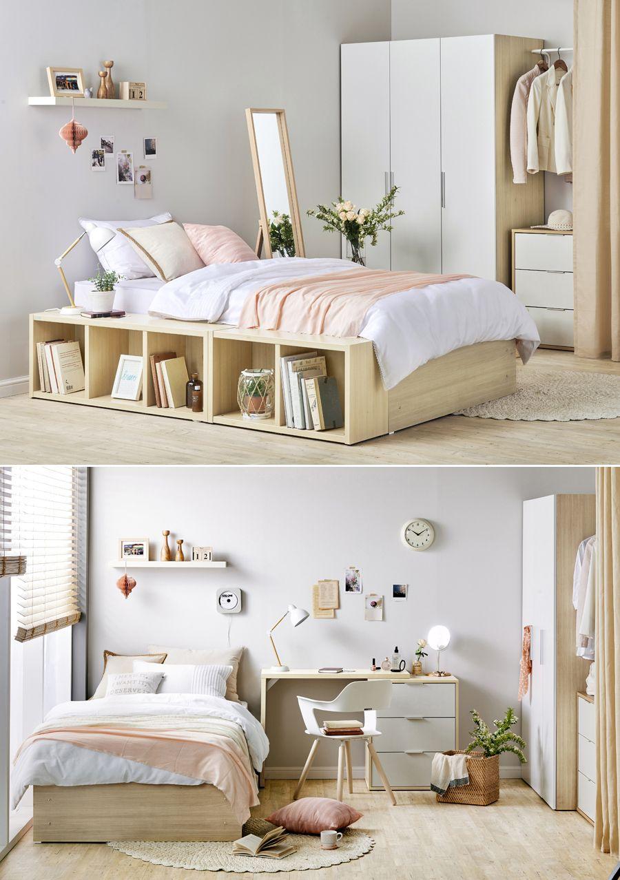 I\'m in my own bed Hanssem big storage room interior Single, single ...
