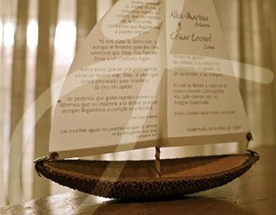 Boat Wedding invitations, handmade Barca de Boda | keniaGuisela