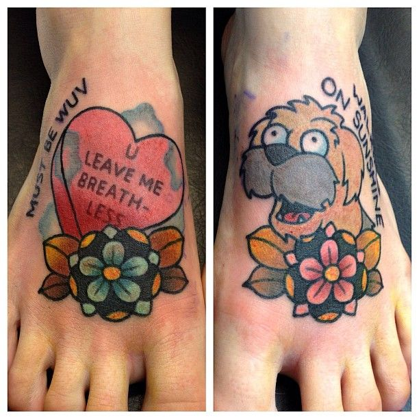 These Futurama tats are so sweet