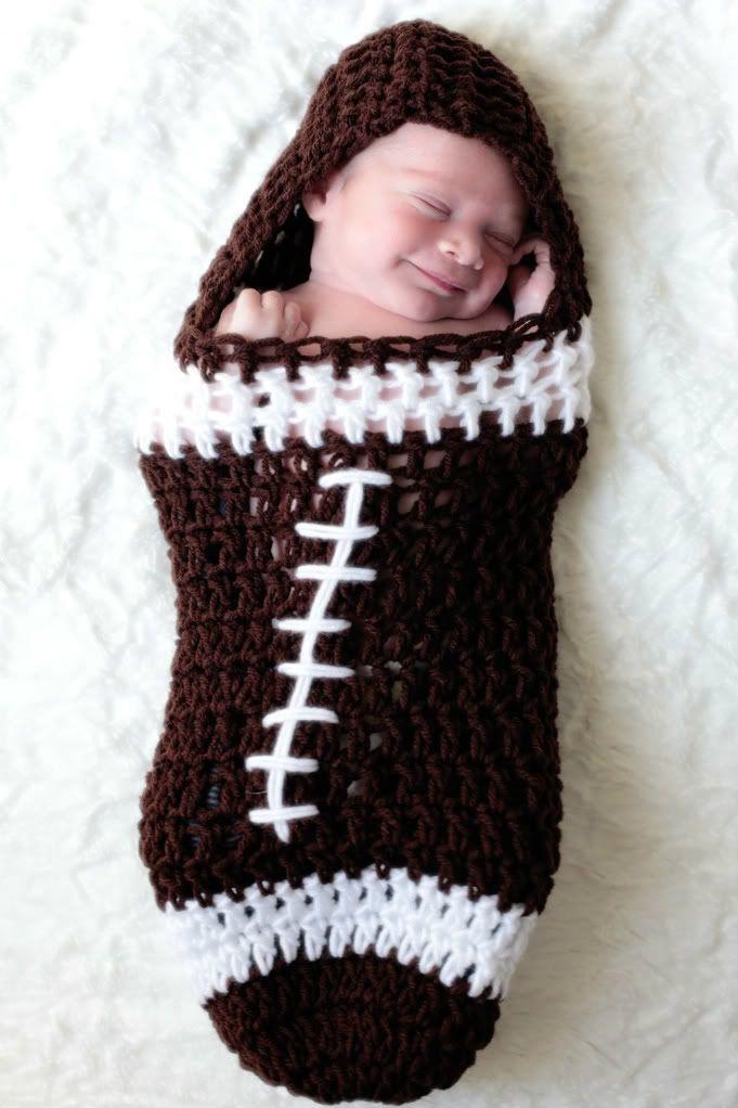 Crochet Football Cocoon Free Giveaway 5 Pink Pumpkin Crochet