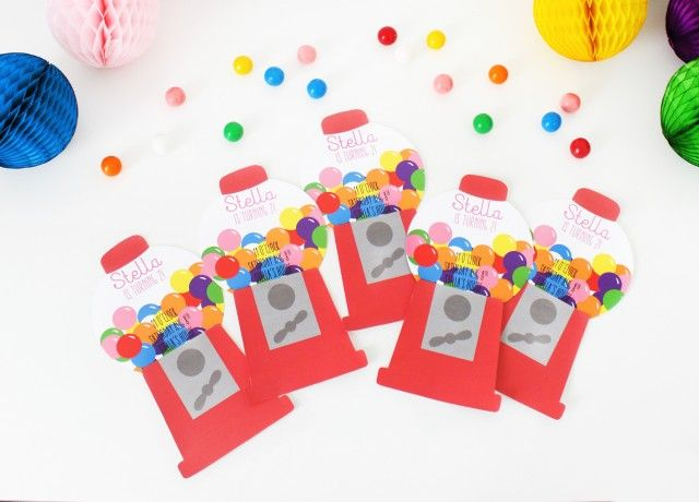 Gumball machine themed birthday party invitations gumball machine gumball machine themed birthday party invitations tiny prints blog filmwisefo Image collections
