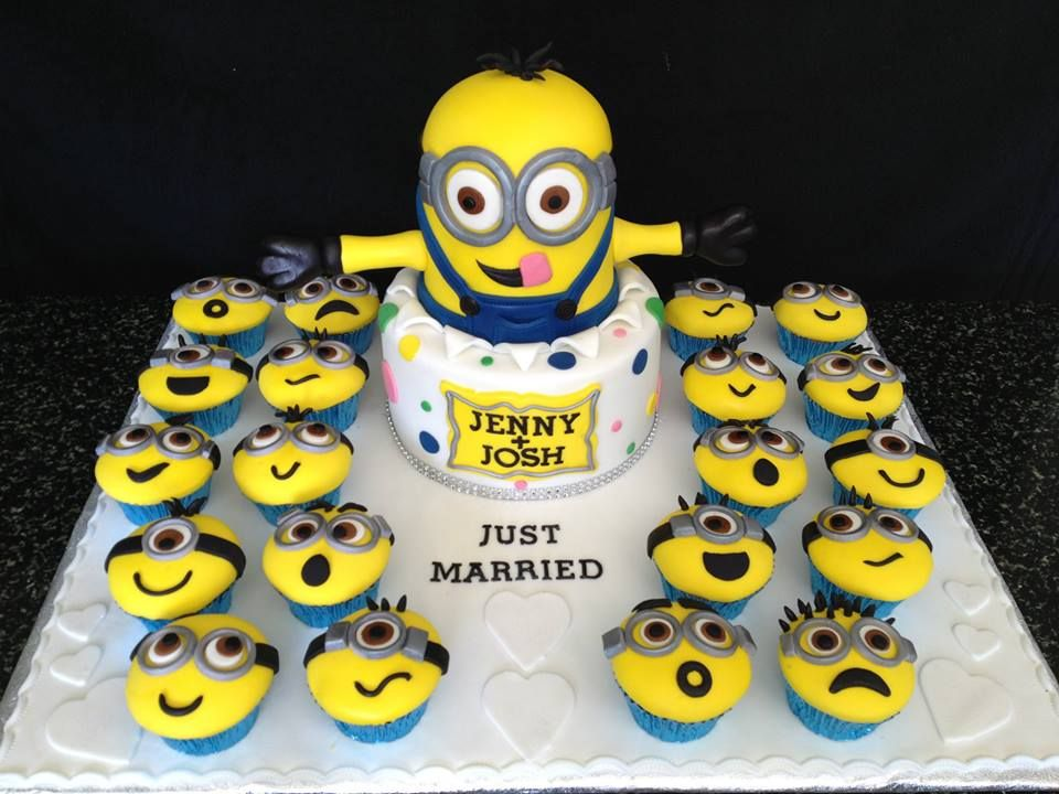 Minion Wedding Cake and Cupcakes by Josie s Designer Cakes     Minion Wedding Cake and Cupcakes by Josie s Designer Cakes  Kalgoorlie   Western Australia  You ll find this Cake Appreciation Society Member in our
