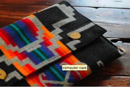 DIY laptop case from a vintage wool blanket | Diy laptop case