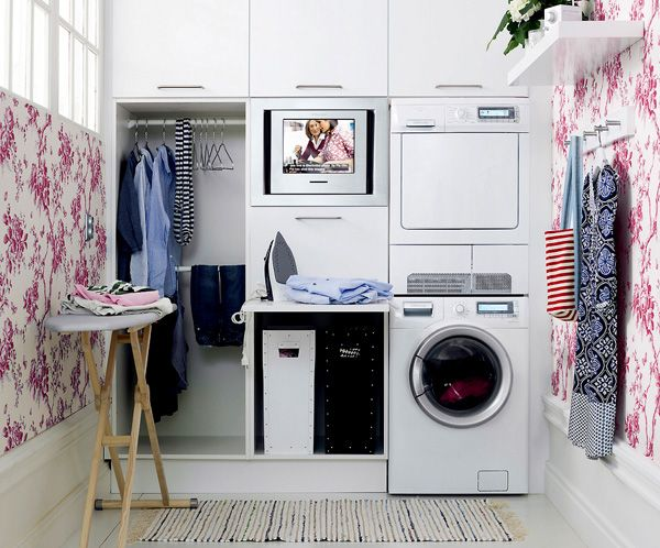 I will have this! (w/out the stackable w/d)  Dream Home  Laundry room design, Laundry Room e ...