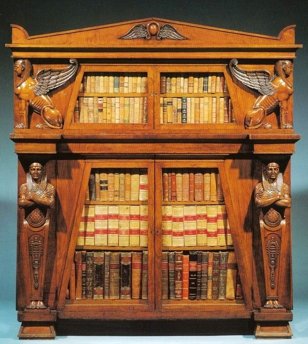 Egyptian Revival Bookcase For My Fantasy Themed Library. By Scott U0026 Pasley,  Dublin, Ireland.